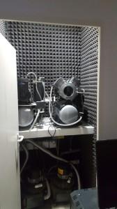 Insonorizacion de sala de maquinas con paneles trapezoidal